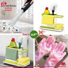 Pack 3in1 stands cuisine + Magic Gloves + Dust Duddy