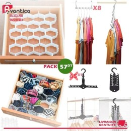 Pack Drawer organizer + Wonder hanger + Magic hanger