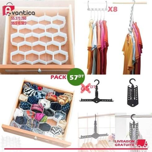 Pack Drawer organizer + Wonder hanger + Magic hanger