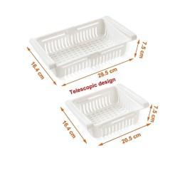 Panier de Réfrigérateur Rétractable Pack 3