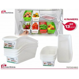4 PANIERS DE Réfrigérateur